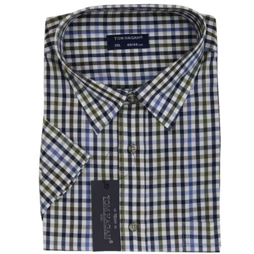 Tom Hagan Mens Checked Casual Shirt Short Sleeves