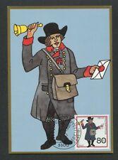 BUND MK 1989 WOHLFAHRT POSTBOTE MAXIMUMKARTE CARTE MAXIMUM CARD MC CM d8204