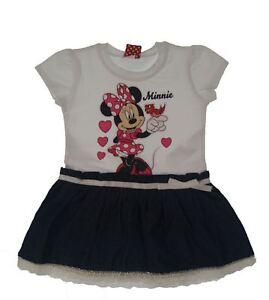 buy popular cf9b2 9f38c Dettagli su Nuovo! Minnie Mouse Vestito con Gonna jeans e Pizzo Tgl  86/92/98/104/110/116