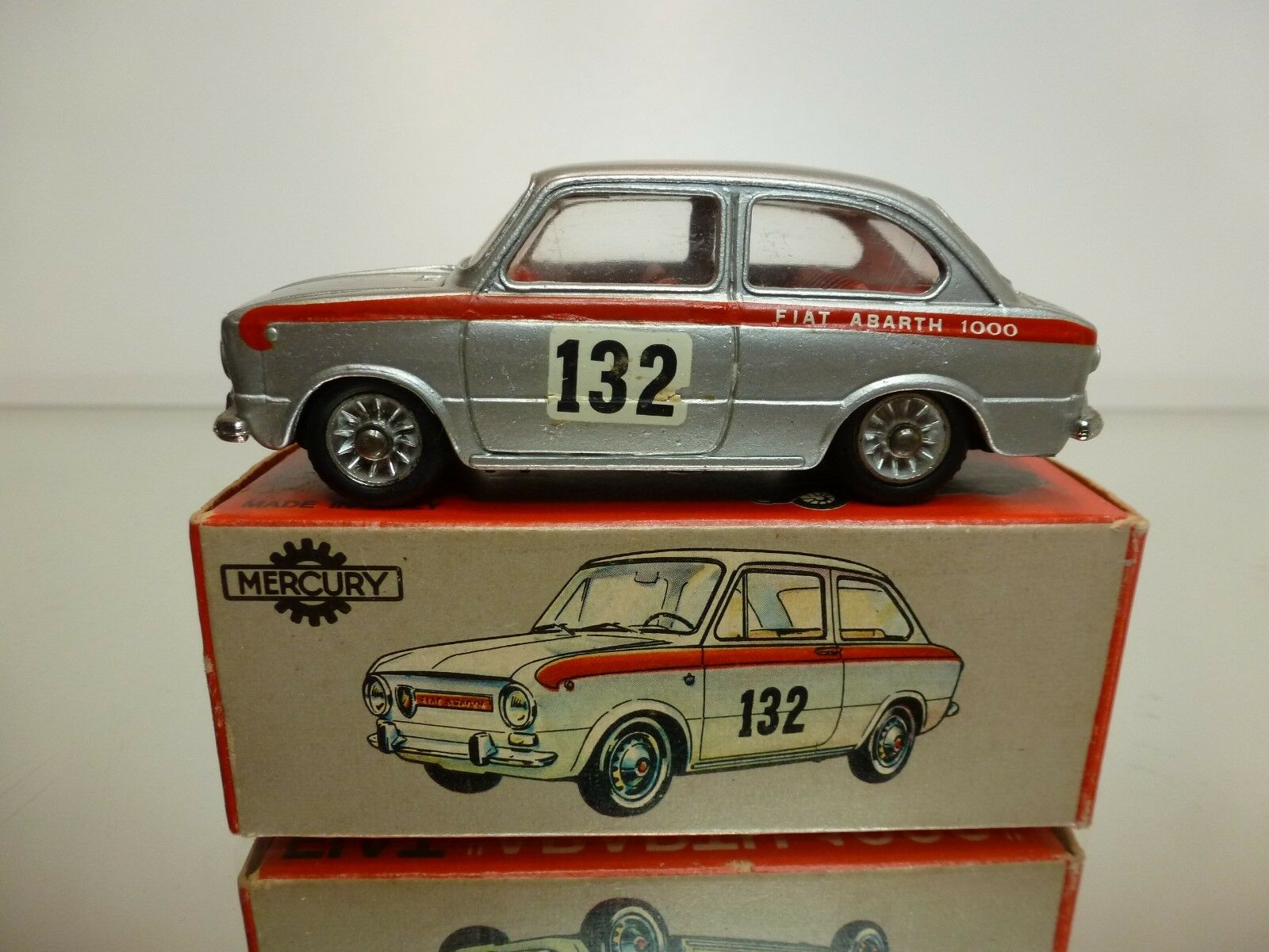 MERCURY 1 43 FIAT 850 ABARTH 1000 - NO= 42  - EXTREMELY RARE  - EXCELLENT IN BOX