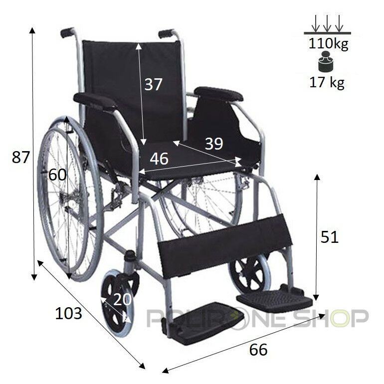 s l1600 - MOVIS Silla de ruedas manual plegable y autopropulsable para anciano minusválido