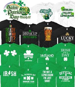 24c8a65e4 St Patricks Day T Shirt Ireland Irish Leprechaun Drunk Beer Paddy ...