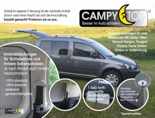 VW CADDY ab 2004 2 St Fensterabdeckung Kinder 100/% Sicht+Sonnenschutz Sonderprs.