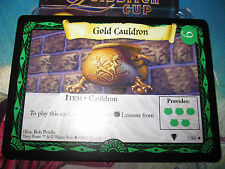 HARRY POTTER TRADING CARD GAME TCG QUIDDITCH CUP GOLD CAULDRON 7/80 RARE EN MINT