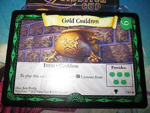 Harry Potter TCG Quidditch Cup Gold Cauldron 7//80