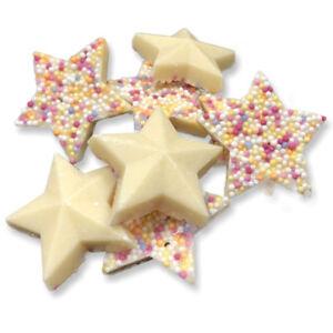 c20cfe740779 Image is loading White-Chocolate-Stars-Jazzles-Snowies-Retro-Sweet-Shop-