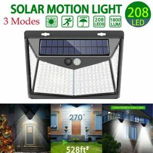208-LED-Solar-Luz-de-Pared-Impermeable-Sensor-de-Movimiento-Lampara-Exterior