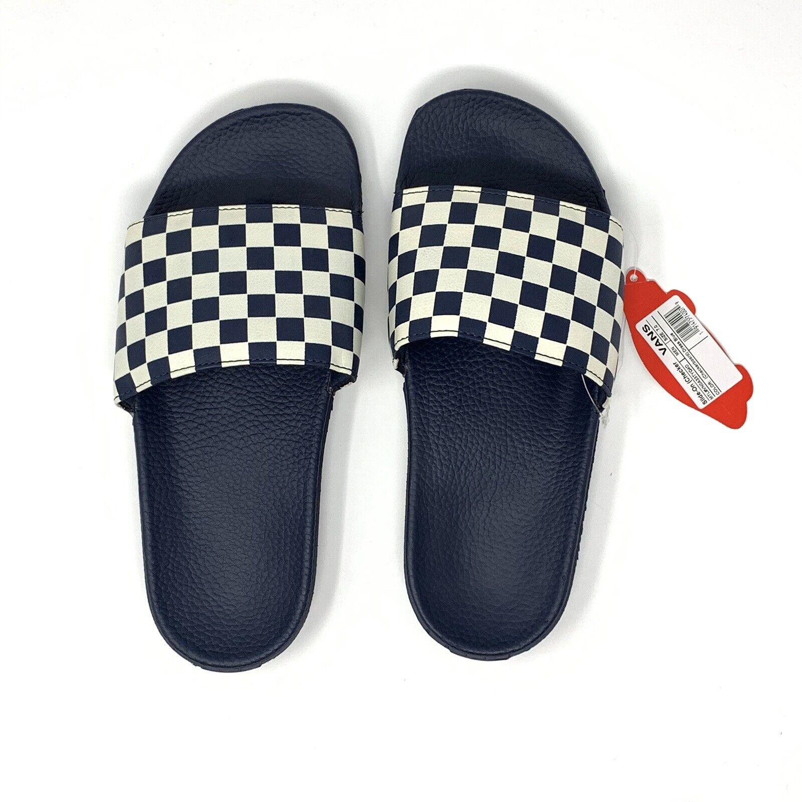 VANS Navy Blue Slides Men's 12 Sandals