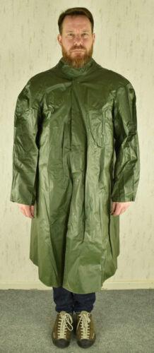 Schwedischer Regenmantel Armee PVC Regenponcho Regenschutz Nässeschutz Oliv