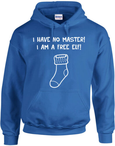 Free Elf Harry Potter inspired Printed Hoodie I Have No Master
