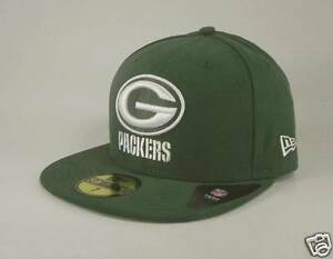 New Era 59Fifty Mens Cap NFL Green Bay Packers Green White Custom ... a5b9527eeaa1f