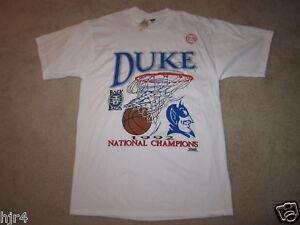 Duke-Blue-Devils-1992-NCAA-Basketball-Hoops-Champs-Shirt-NEW