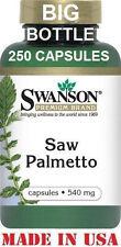 SWANSON  PREMIUM SAW PALMETTO - 540 mg - 250 Capsules - MEN'S PROSTATE SUPPORT