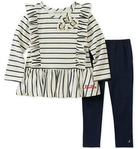Nautica Girls Navy Blue Tunic 2pc Legging Set Size 2T 3T 4T 4 5 6 6X