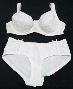 WHITE-EMBROIDERED-SHEER-NON-PADDED-BRA-PANTIES-SET-12B-34B-COMFY-FIT