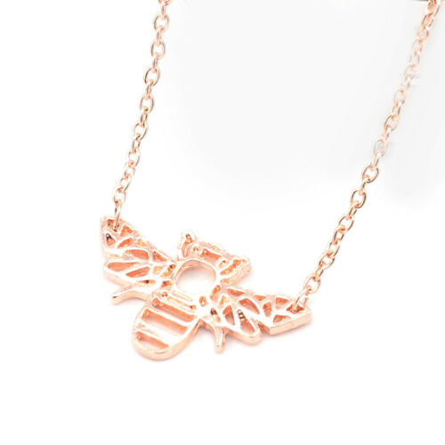 1×Cartoon Origami Bee Necklace /& Pendants Simple Hollow Clavicle Chain Necklaces