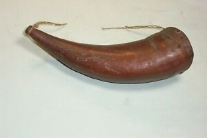 """Authentic, antique, powder horn! 8"""", very nice!"""