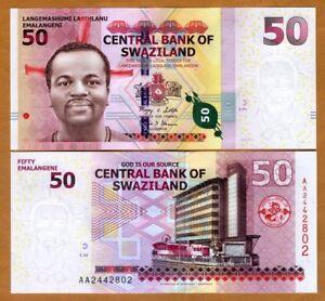Swaziland 200 Emalangeni 2017 AA-Prefix UNC