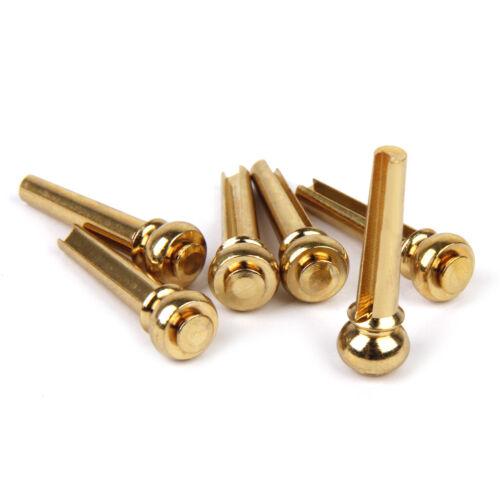 6pcs Kupfer Guitar Bridge Pins Für Akustikgitarre Metall String End Peg Nail