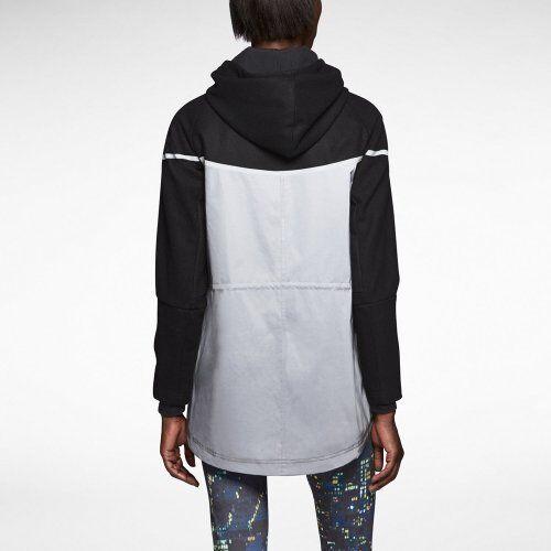 Nouveau Taille Femme M en Nike 200 détail à Prix capuche Noir argent réfléchissante laine Veste de HCrq8wH