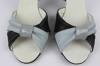 Sandalias IKKS Original zapatos Cuero Negro y Gris T 38 MUY BUEN ESTADO