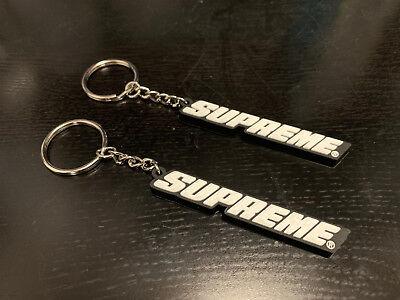 BLACK Supreme Bevel Box Logo Keychain Red SS18 RARE Deadstock Brand New BOX LOGO