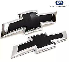 16-17 Chevrolet Malibu Front & Rear Black Bowtie Emblem Pkg 23384199 OEM GM