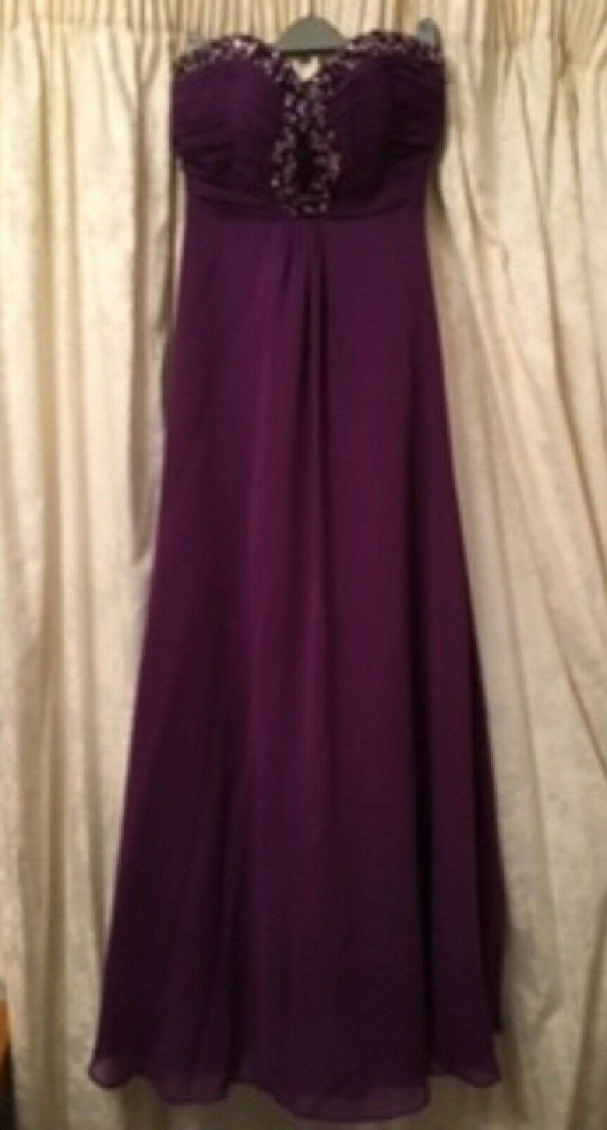 Ladies Prom   Evening dress Purple - princess line, sweetheart strapless Size 8