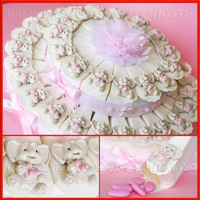Faveurs aiFemmets de mariage naissance baptême anniversaire gâteaux aiFemmets Faveurs bébé éléphant a371ca