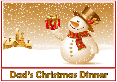 Snowman Ice Skating Christmas Personalised Placemat