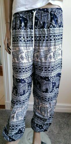 Hippie Clothing Boho Pantalon Sarouel//Éléphant Yoga Pantalon Taille Unique