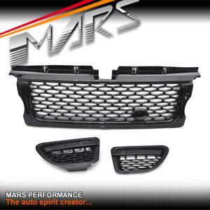 Black-Bumper-Bar-Grille-amp-Side-Vents-for-LAND-ROVER-Range-Rover-Sport-L320-05-09
