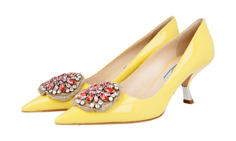 Lujo prada zapatos de salón 1i015g Color  piñas nuevo 38 38,5