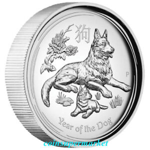 2018-Australia-Lunar-Year-Of-Dog-High-Relief-Proof-1oz-Silver-Coin-The-Perth-OGP
