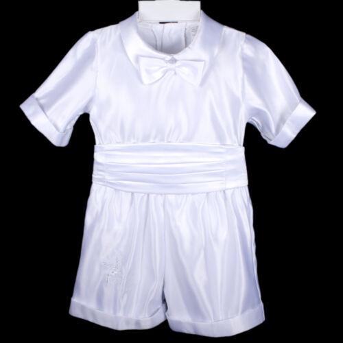 Infant Toddler /& Boy Christening Baptism Suit Outfit Sz:M L XL 2T 3T 4T 0-36M