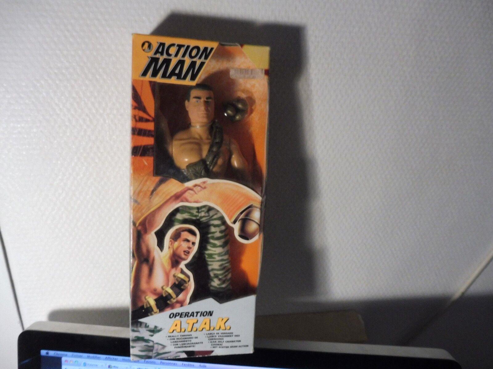 Poupée action man , vintage vintage vintage neuve en boite - operation A.T.A.K d3acb3