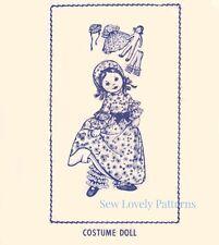 Vintage Doll Patern 7450  Stuffed Rag Old Fashioned by Alice Brooks - Original
