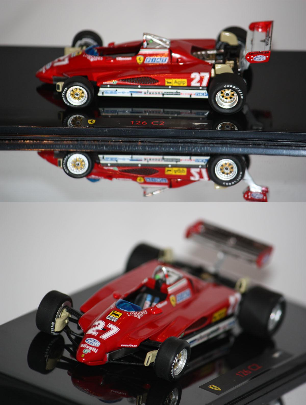 Hotwheels Elite F1 Ferrari 126 C2 G.Villeneuve 1982 1 43 N5580