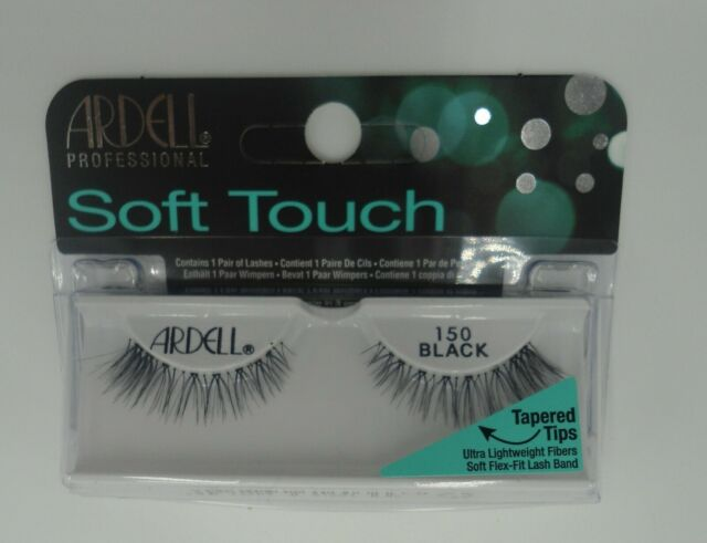 ad06aae2f4d Ardell Soft Touch Tapered Tip Lashes 150 Black Soft Flex, Fit lashband (3  Pairs) for sale online