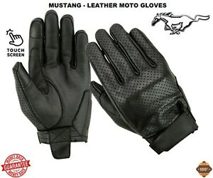 New-MUSTANG-Leather-Ladies-Mens-CE-Armour-Motorbike-Motocross-Motorcycle-Gloves