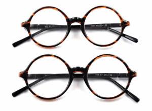 Retro-Vintage-Round-Eyeglass-Frames-Spectacles-Glasses-Tortoise-Fashion-HFA318
