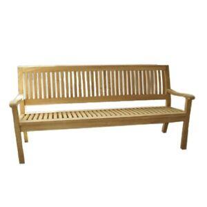 LEX-034-Kingsbury-034-Sitzbank-aus-Teakholz-mit-Armlehne-mit-Edelstahl-120-cm