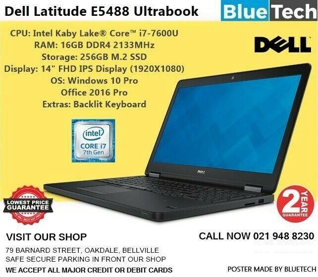 Dell Latitude E5488 Ultrabook - Core™ i7-7600U - 16GB DDR4 - 2 Year Guarantee.
