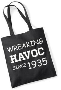 82. Geburtstagsgeschenk Einkaufstasche Baumwolle Neuheit Tasche Wreaking Havoc