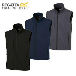 Mens Regatta Octagon 3 Layer Golf Softshell Bodywarmer Vest Gilet Jacket RRP £50