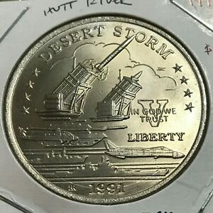 1991 HUTT RIVER $5 DESERT STORM PATRIOT MISSLE BRILLIANT UNCIRCULATED COIN