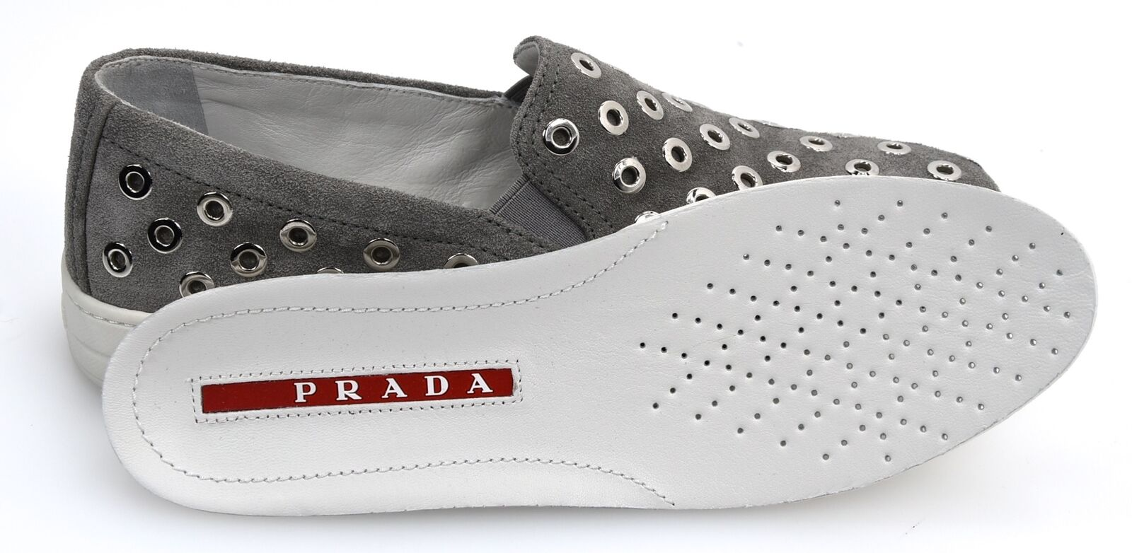 PRADA WOMAN baskets baskets baskets SLIP ON chaussures CASUAL FREE TIME SUEDE CODE 3S6159 03efae
