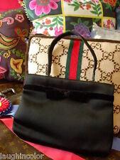 RARE Vintage Pretty GUCCI Black Evening Kelly Bag Purse Handbag Speedy