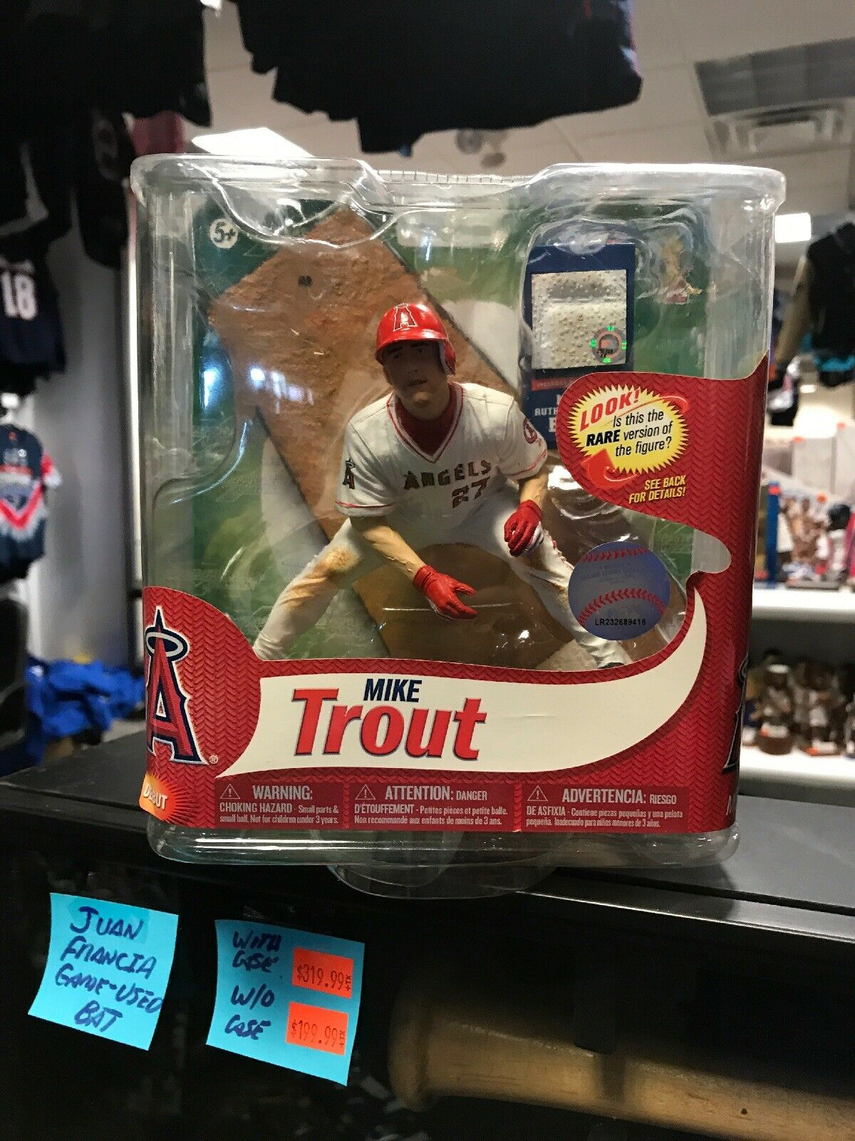 RARE McFarlane Mike Trout Angels Variant Variant Variant Rookie Figure  200 Authentic Base NM 2ea879