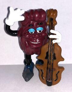 California-Raisin-with-Cello-Vintage-Figurine-3-inch-Plastic-Figure-1988-Chello